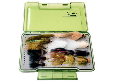 tfo streamer fly selection with fly box