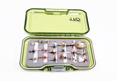 Dry fly selection with fly box