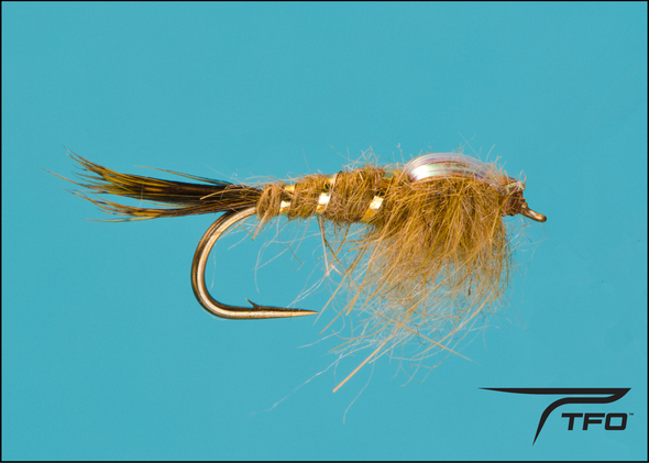 Hare's Ear Flashback-Olive Fly fishing nymph | TFO - Temple Fork Outfitters Canada