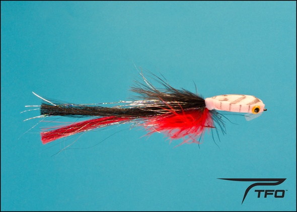Pike/Musky Fly Black/Red Size 2/0
