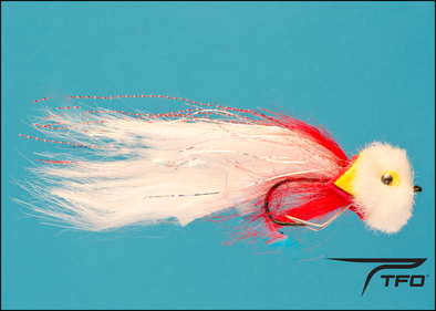 Pike Red/White Foam Head Size 4/0