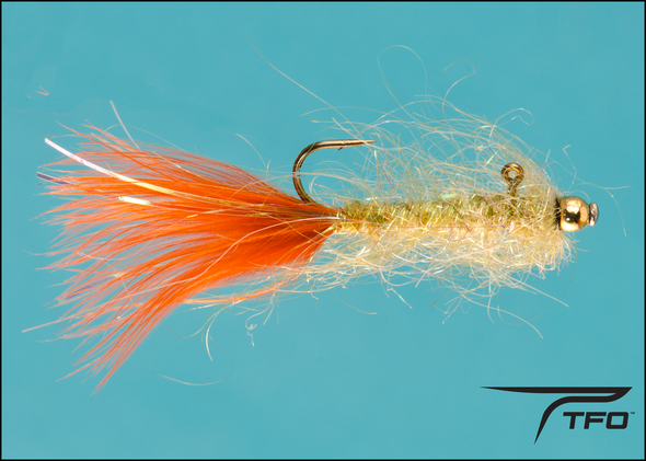 Balanced Leech Olive/Burnt orange Fly fishing nymph | TFO - Temple Fork Outfitters Canada