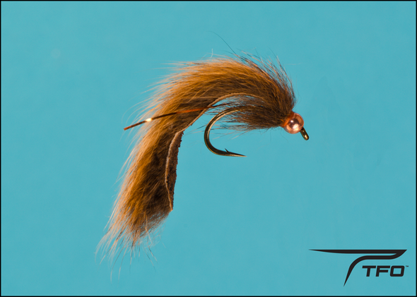Beadhead Pine Squirrel Leech - Brown Fly fishing nymph | TFO - Temple Fork Outfitters Canada