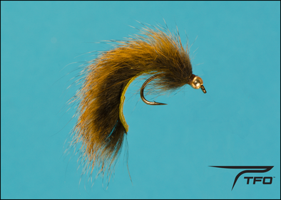 Beadhead Pine Squirrel Leech - Olive Fly fishing nymph | TFO - Temple Fork Outfitters Canada