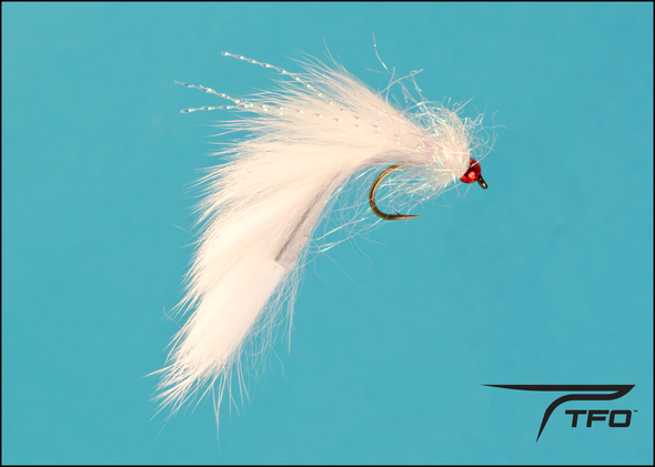 Beadhead Pine Squirrel Leech - White | TFO - Temple Fork Outfitters Canada