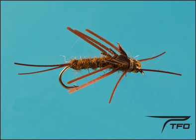 Beadhead Stonefly Rubber Leg - Brown | TFO - Temple Fork Outfitters Canada