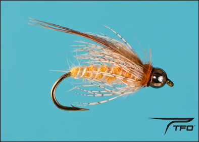 Beadhead Deep October Caddis Pupa Nymph Fly fishing nymph | TFO - Temple Fork Outfitters Canada