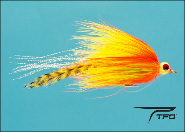 Pikeabou Deceiver - Orange/Chartreuse Fly fishing streamer | TFO - Temple Fork Outfitters Canada