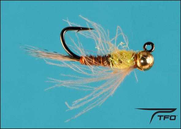 Tungsten Beadhead Jig Pheasant Tail Hot Spot Yellow Fly fishing nymph | TFO - Temple Fork Outfitters Canada
