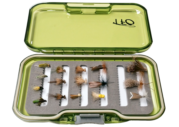 Caddis fly selection with fly box