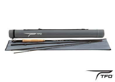 TFO Blue Ribbon fly rod Rod and case full spread