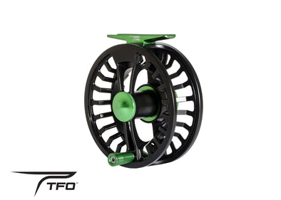 TFO NXT GL I FLY REEL front angle view