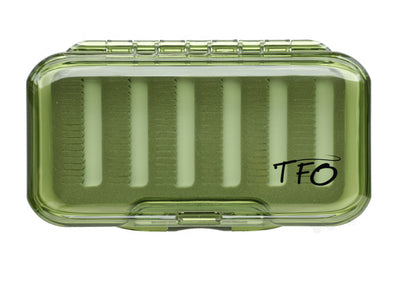 TFO S/S Waterproof Olive Fly Box -Slit Foam | TFO - Temple Fork Outfitters Canada