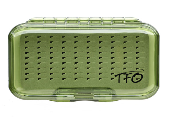 TFO S/S Waterproof Olive Fly Box -Triangle Slit Foam | TFO - Temple Fork Outfitters Canada