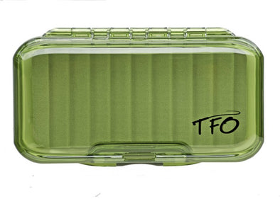 TFO S/S Waterproof Olive Fly Box -Ripple Foam | TFO - Temple Fork Outfitters Canada