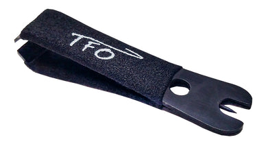 TFO Black Nippers With Rubber Grip