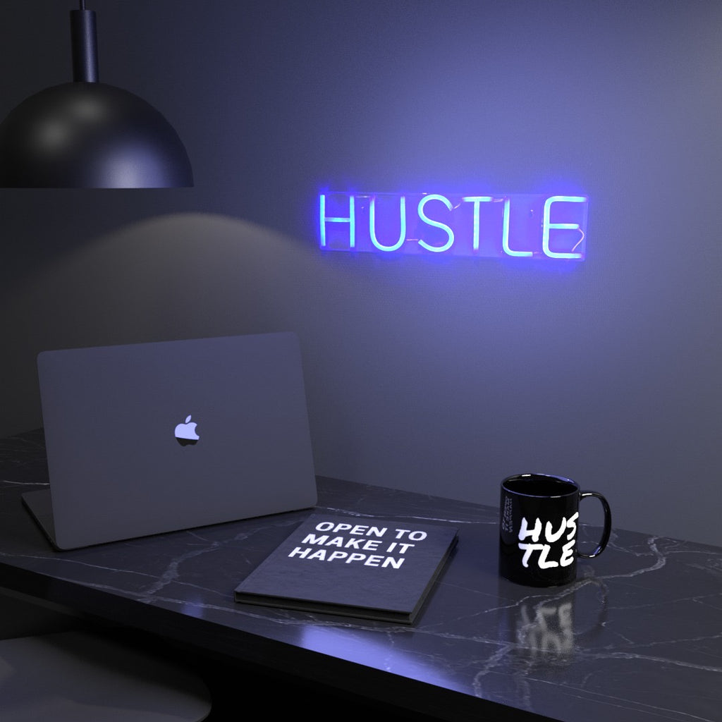 Hustle Neon Sign - Hustle Touch - Hustle Vibes Only
