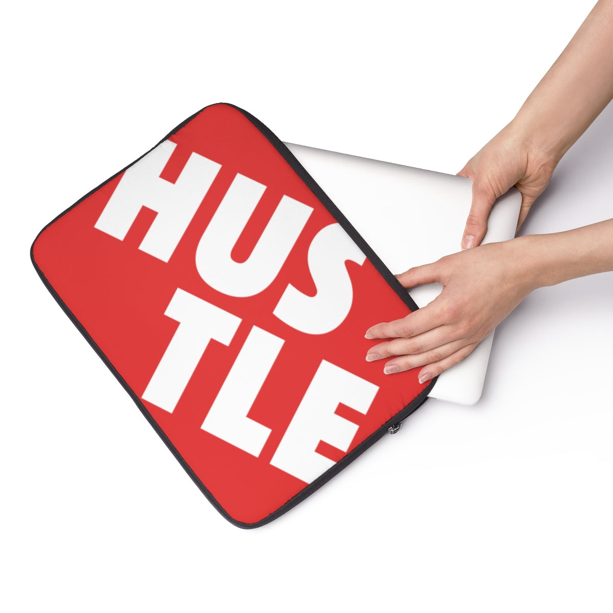 Red Laptop Sleeve 001 - Hustle Touch