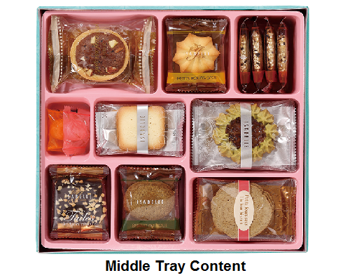 DeFoodie Mart CNY Goodies Gift Set 2018 New Arrival – Isabelle Freesia Middle Tray Content