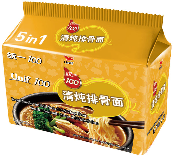 Unif 5s Stewed Pork Chop Flavor Instant Noodles imported by Goh Yeow Seng Pte Ltd is available at defoodiemart.com. Other 2 flavors available: Beef Flavor with Sauerkraut, Roasted Beef Flavor