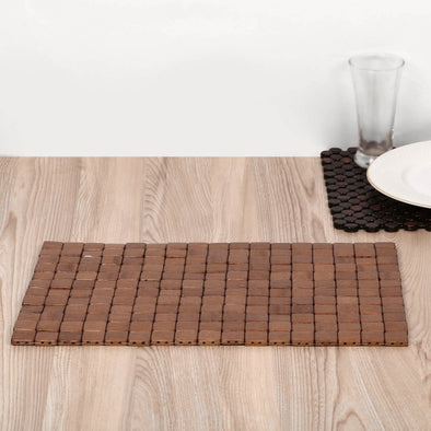 SET OF 2 BAMBOO EBONY PLACEMAT - Wooden Home Decor