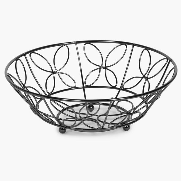 Stainless Steel Fruit Basket - Wooden Home Decor