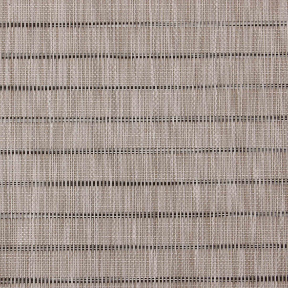 Striped Woven Placemat - Set Of 6 - Wooden Home Decor