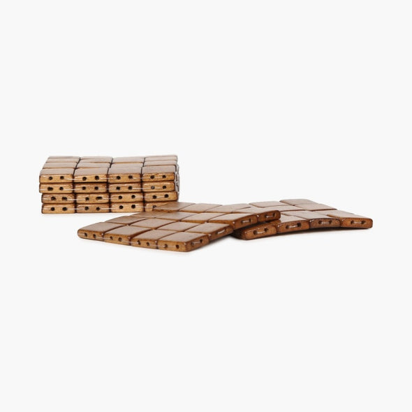 Bamboo Cubes Coaster Set- Pack Of 6 Pcs. - Wooden Home Decor