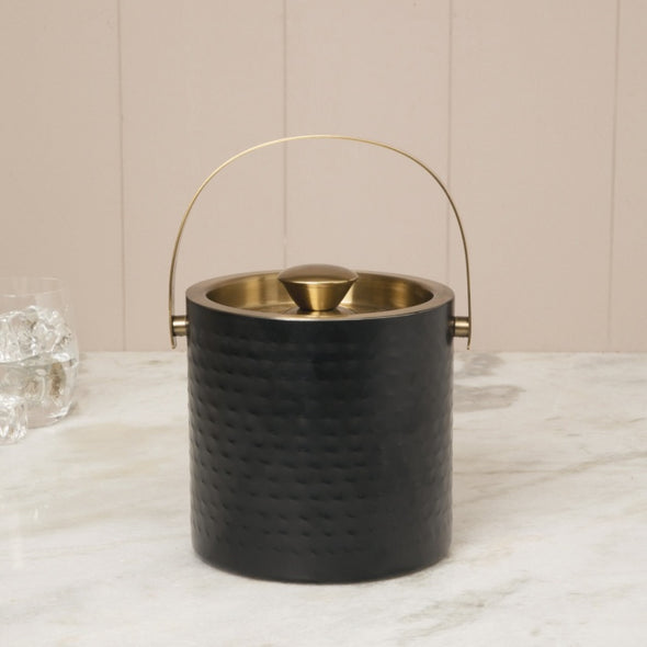 Stainless Steel Ice Bucket - Wooden Home Decor