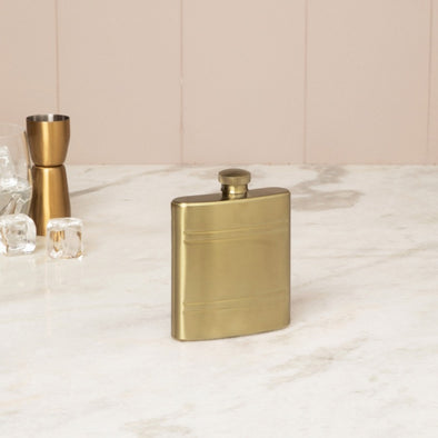 Solid Stainless Steel Hip Flask - Wooden Home Decor