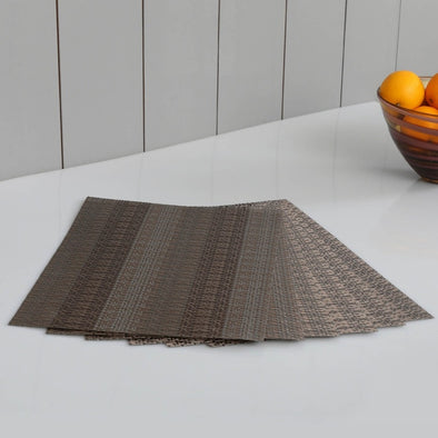 Eden Woven Placemat - Set Of 6 - Wooden Home Decor