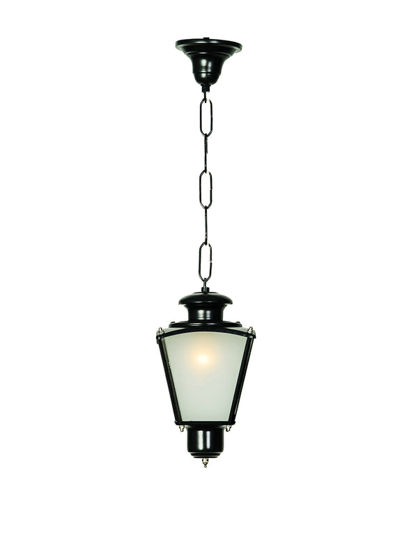 Black Outdoor Hanging Lantern - Wooden Home Decor