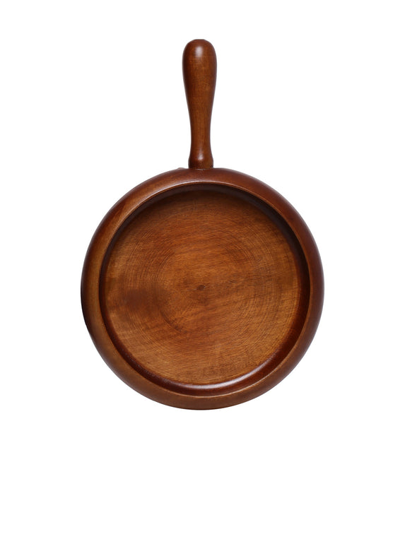 Brown Pasta Pan - Wooden Home Decor