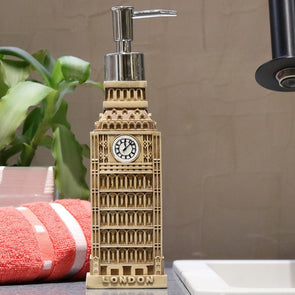 Brown & Black Big Ben Liquid Soap Dispenser - Wooden Home Decor