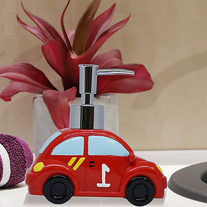 Red & Black Car-Shaped Liquid Soap Dispenser - Wooden Home Decor