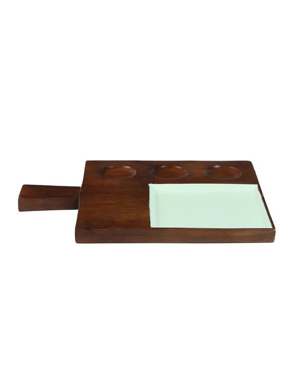Brown Serving Platter - Wooden Home Decor