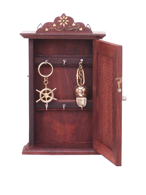 Wooden Cupboard Shaped Key Holder