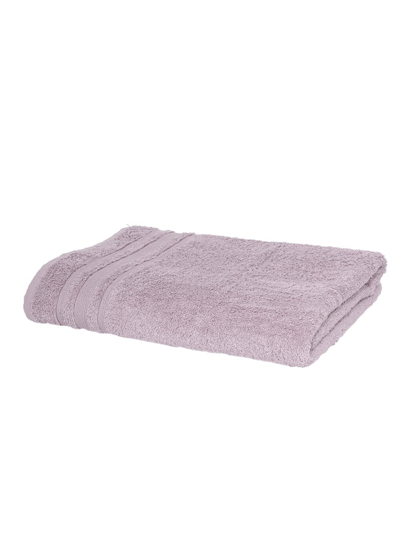 Purple 550 GSM Cotton Bath Towel - Wooden Home Decor