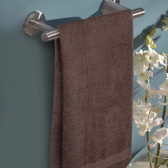 Unisex Brown Solid 400GSM Bath Towel - Wooden Home Decor