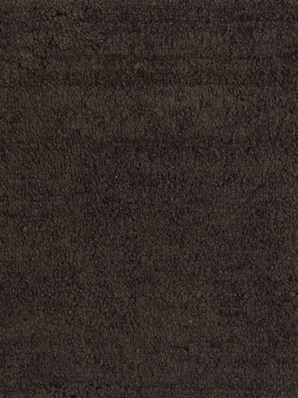 Brown Solid Microfibre Bath Rug & Contour - Wooden Home Decor