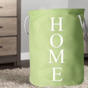 Unisex Green Printed Foldable Laundry Bag - Wooden Home Decor