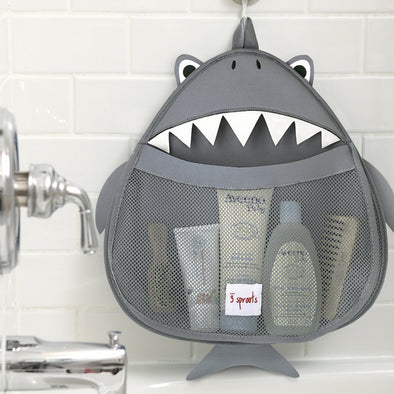 Grey Bathroom Caddy - Wooden Home Decor