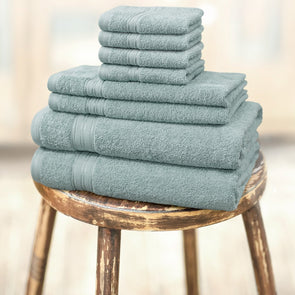 Set of 8 Cotton 450 GSM Towels - Wooden Home Decor