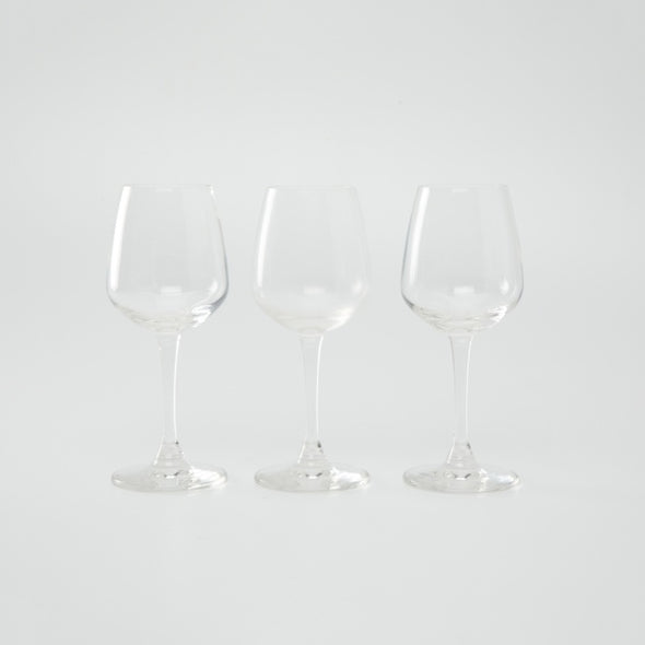 White Wine Glass Set- 3 Pieces of 240 ml. each - Wooden Home Decor