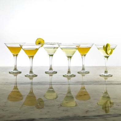 Cocktail Glass-Set Of 6 Pcs. - Wooden Home Decor