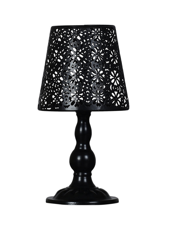 Black Lampshade Candle Holder - Wooden Home Decor