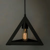 Black Solid Handcrafted Ceiling Lamp - Wooden Home Decor