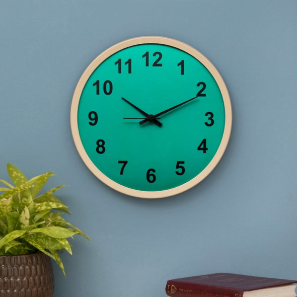 Casablanca Estacia Contemporary Wall Clock - Wooden Home Decor