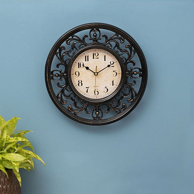 Estelle Telsa Contemporary Wall Clock - Wooden Home Decor