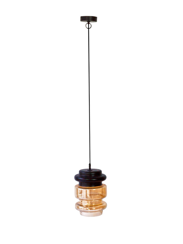 Gold Tiered Pendant Lamp - Wooden Home Decor